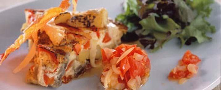 Kartoffeltortilla med ost