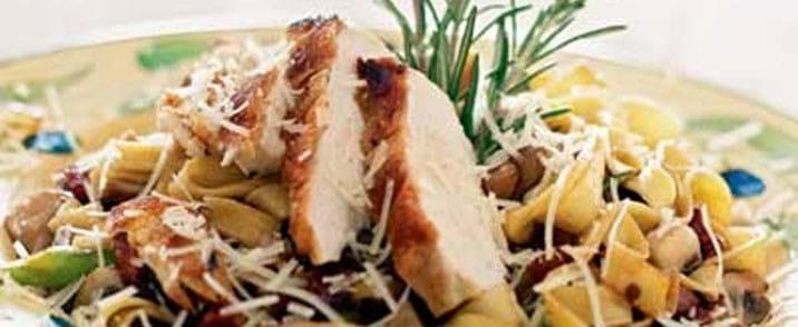 Kylling-linguine a la Carbonara