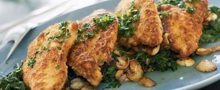 Kyllingebryst på spinat
