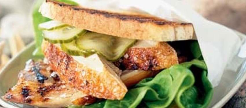 Kyllingesandwich med bacon