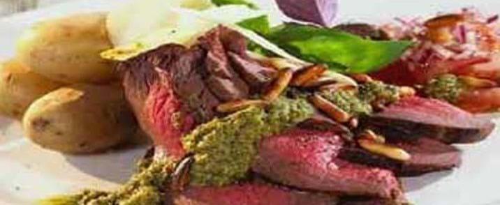 Basilikum-roastbeef med parmesan