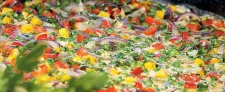 Løg- og peberfrugtfrittata
