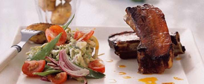 Mexican spareribs med spicy coleslaw