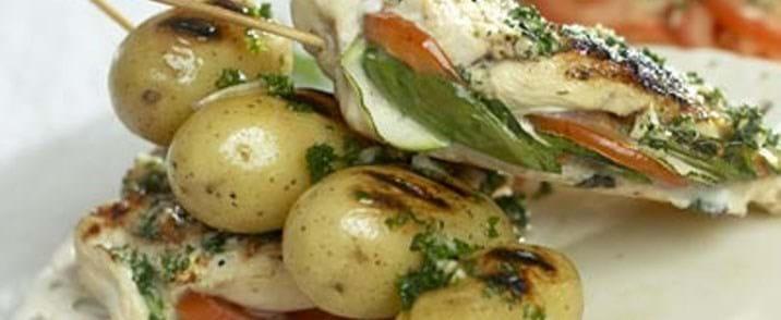 Nye kartofler på spyd