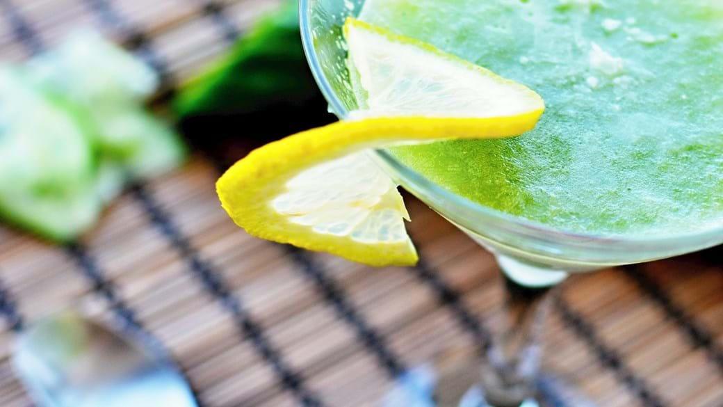 Agurkeis med mynte og gin