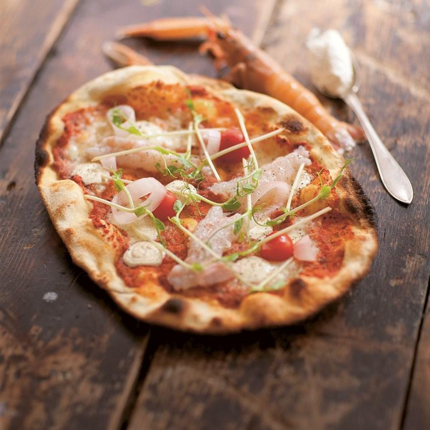 Luksus Jomfruhummerpizza