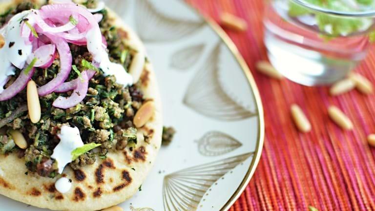 Mellemøstlig lam med spinat