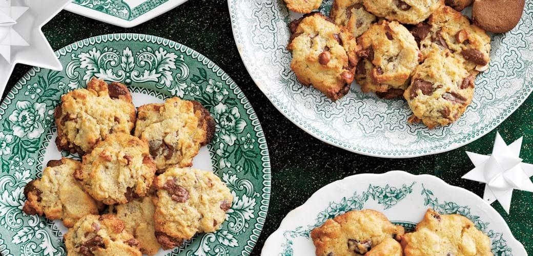 Cookies med marcipan og nougatsmag