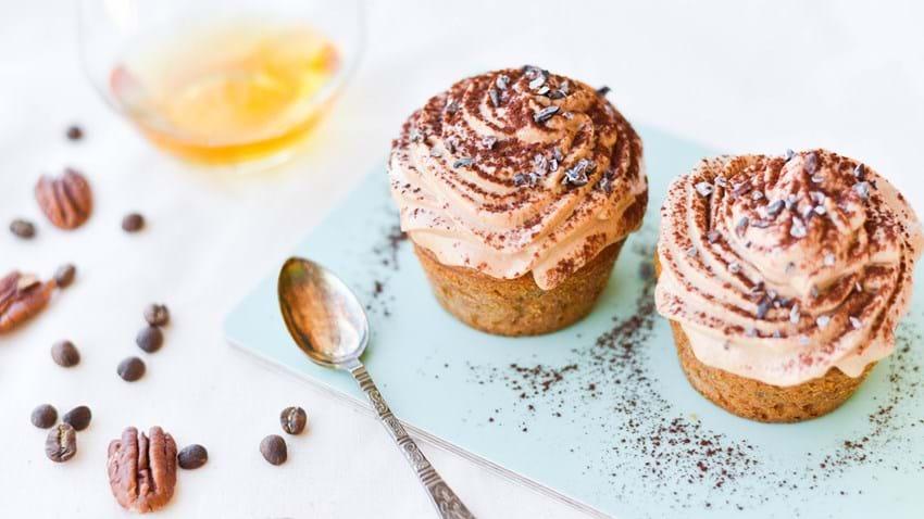 Nøddecupcakes med nougatcreme