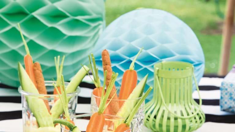 Mild remouladedip med grøntsager