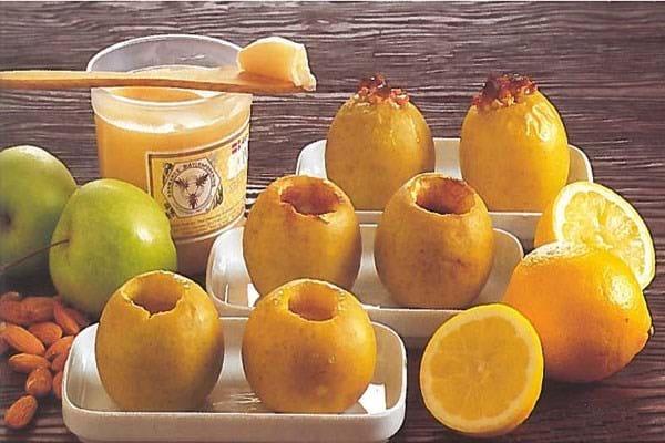 Ovnstegte æbler