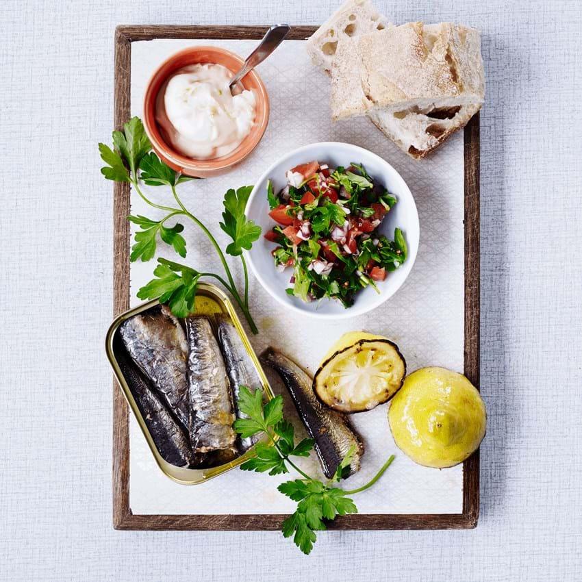 Sardiner med persillesalat