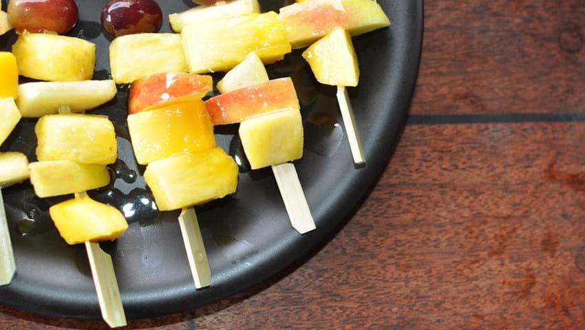 Frugtspyd - dessert på grillen