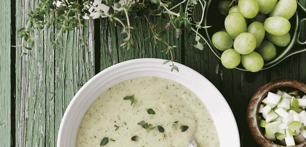 Courgette-suppe med frugt