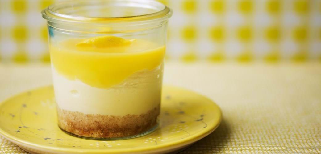 Kager på 10 min: Cheesecake med lemon curd