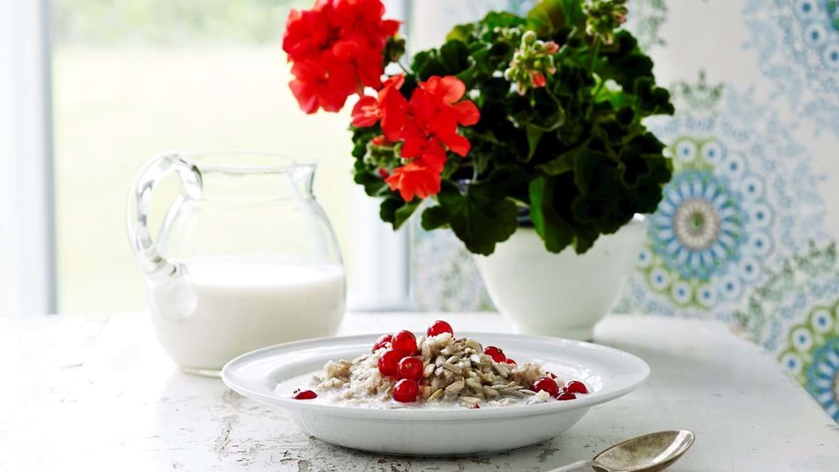 Godmorgengrød  med gårdmælk