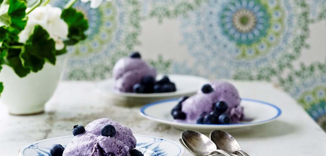 Koldskålis med blåbær