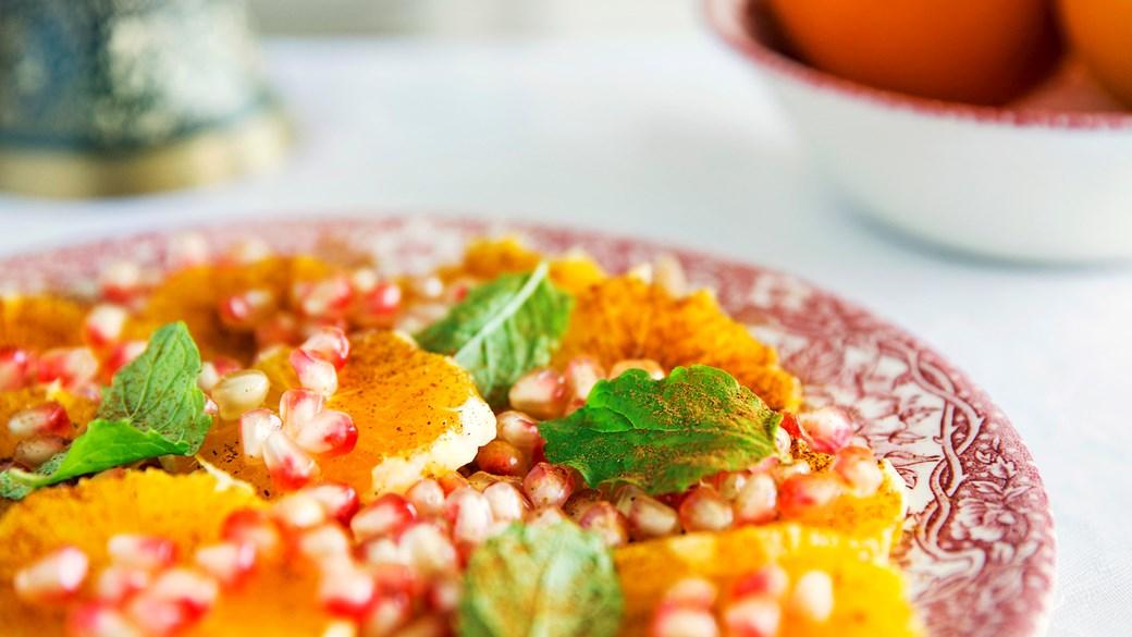 Appelsinsalat med kanel