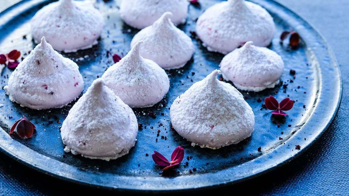 Skumfiduser med vanilje og hindbær