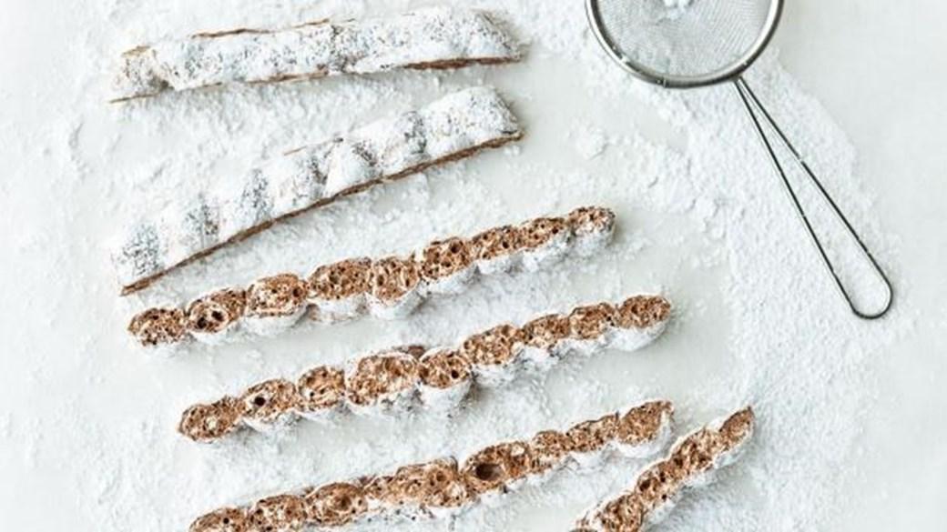 Skumfiduser med mynte og chokolade