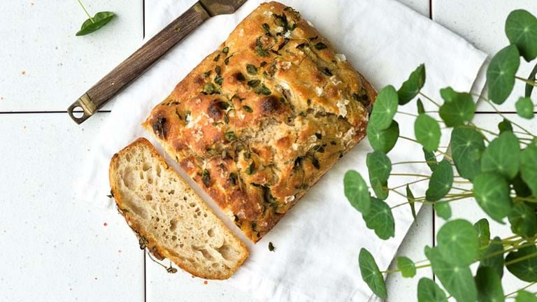 Madbrød – med timian og salt