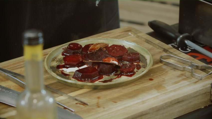 Rødbeder i lakrids og hyldeblomstsaft