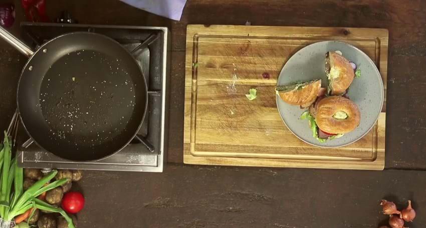 Sandwich med bøf og bearnaise