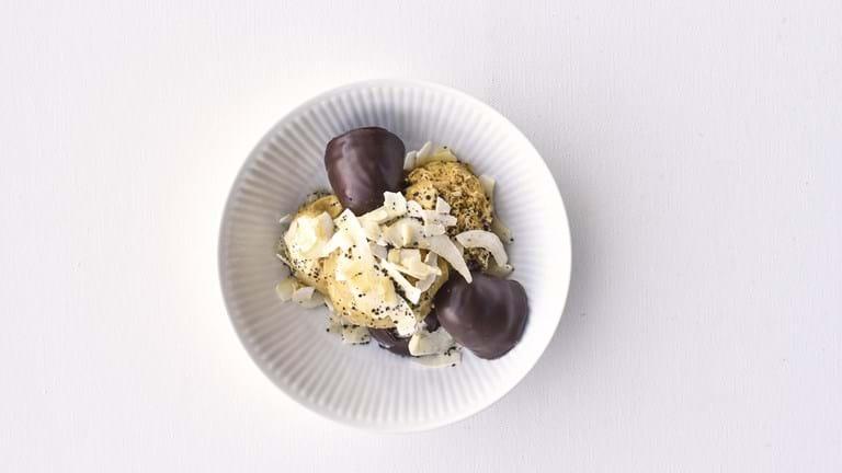 Lakridsis med flødeboller