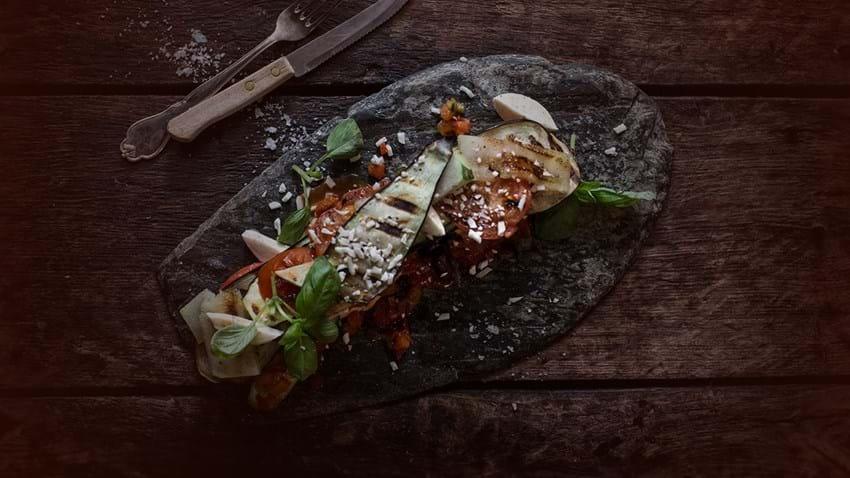 Grillet grøntsagslasagne med mozzarella