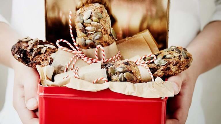 Rugbrødssnack med chokolade