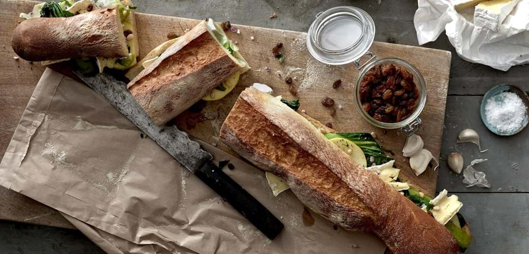 Sandwich med sølvbede og brie