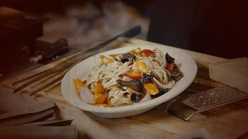 Veggie pasta med grønt og parmesan