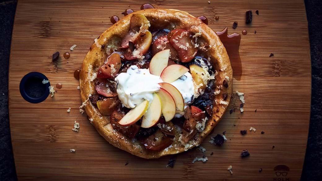 Æbletærte på panden
