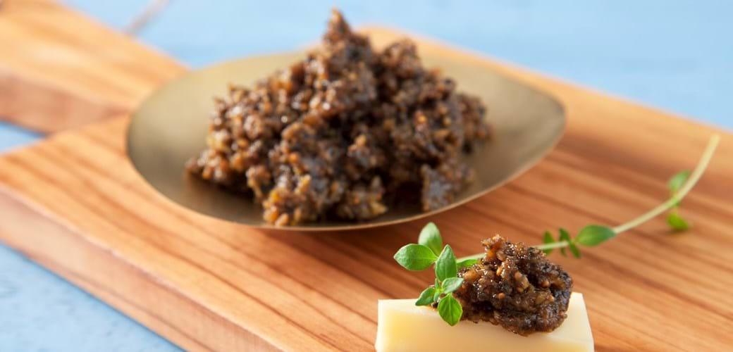 Figen- og oliventapanade med ingefær