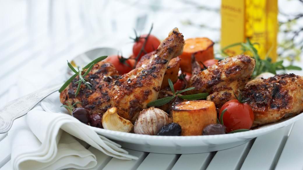 Provencalsk kyllingelår med hvidløg og rosmarin
