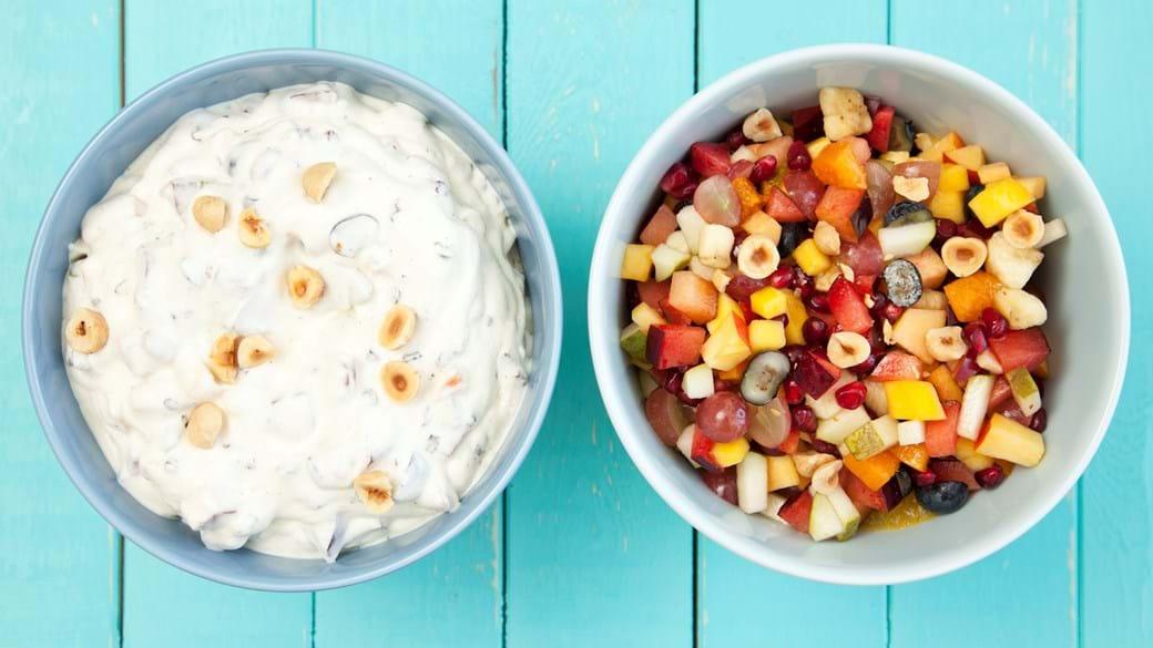 Frugtsalat til ost – 2 slags