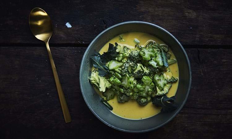 Broccoli i tykmælk og havtorn