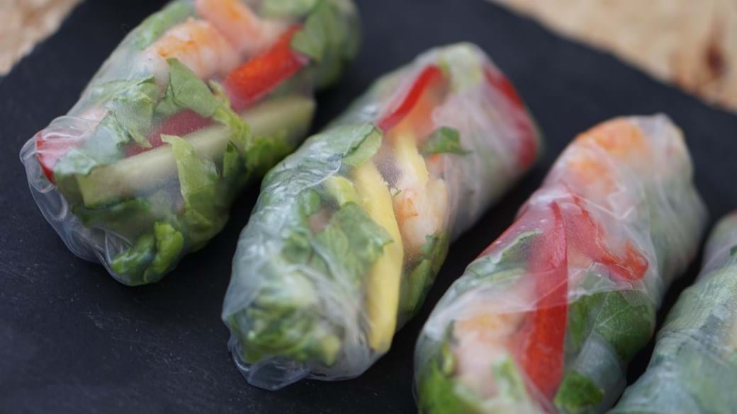 Friske forårsruller - lækre asiatiske snacks