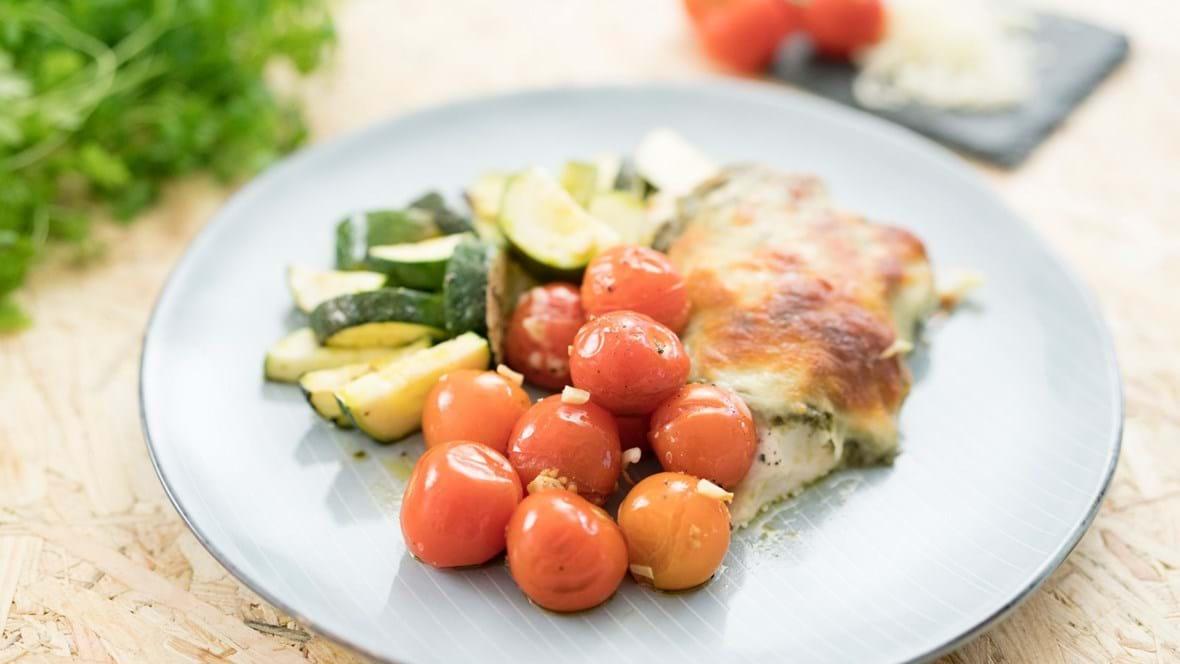 Kyllingebryst i ovn med squash