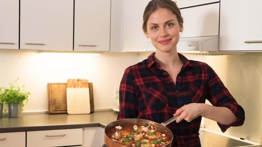 Shakshuka - bagte æg i tomatsovs
