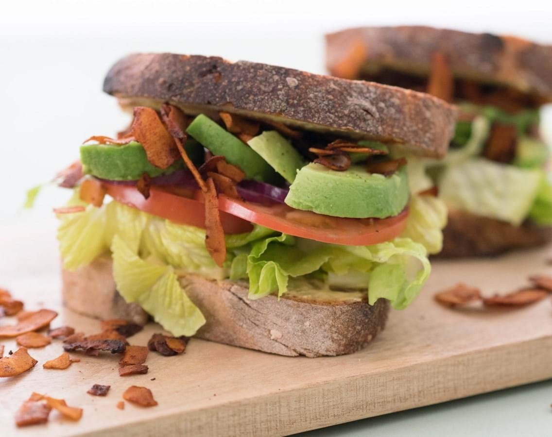 Kokosbacon sandwich