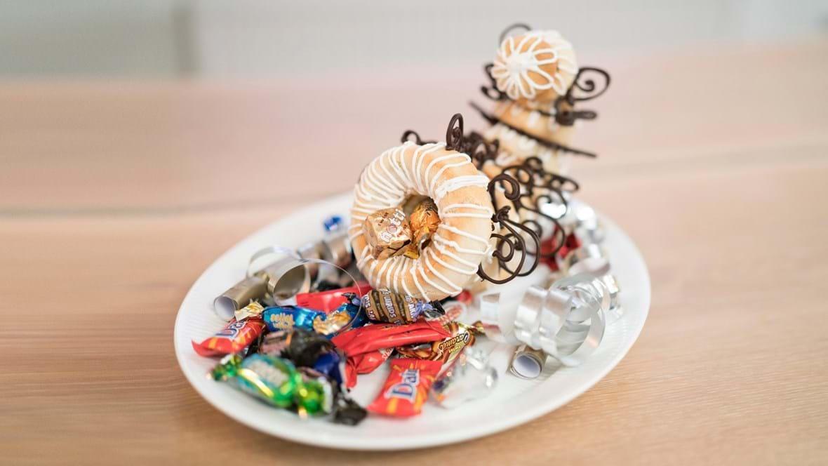 Overflødighedshorn med chokoladepynt