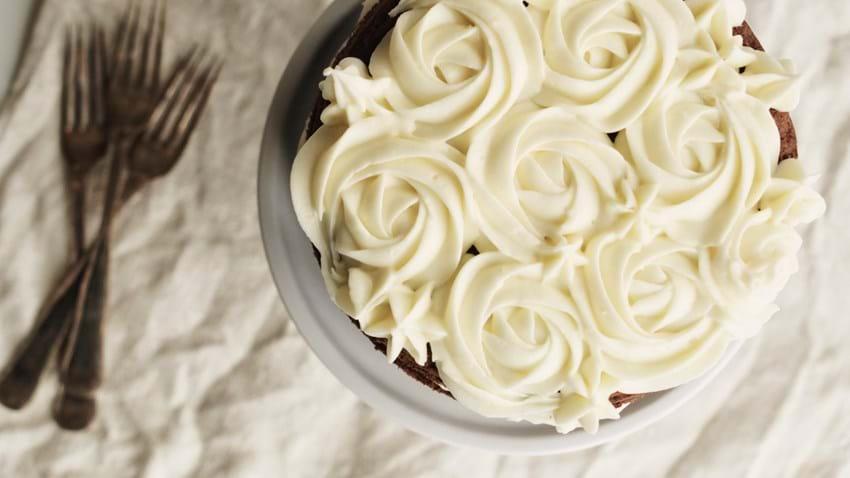 Rose swirl frosting