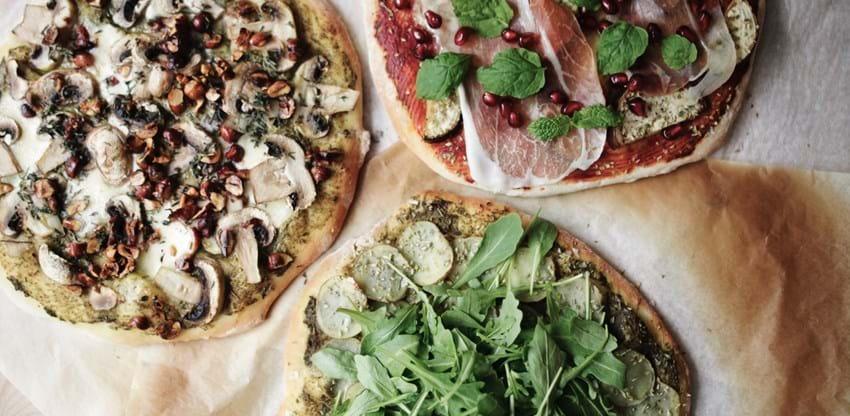 Tre slags pizzaer