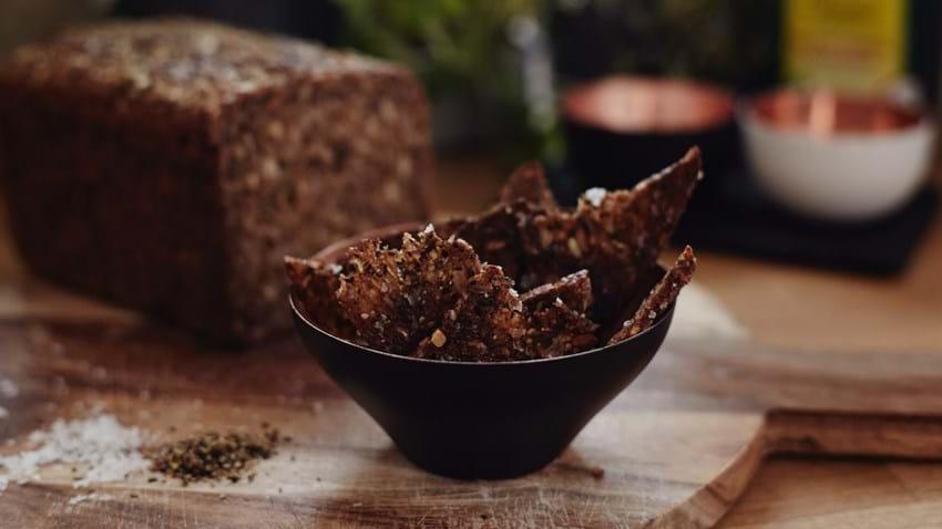 Sprøde rugbrødschips
