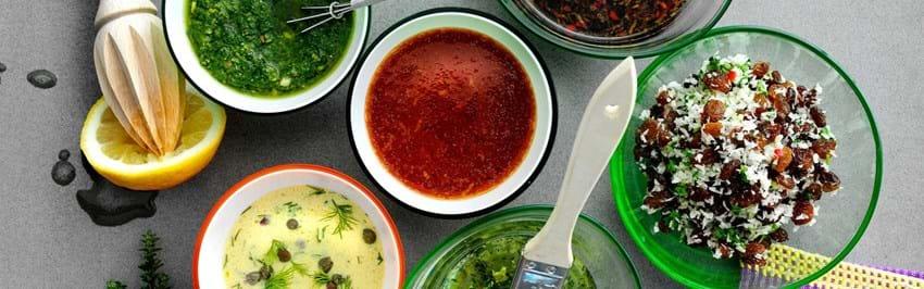 6 marinader til grill, grønt og salater