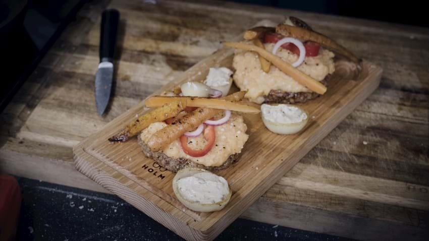Plankebøffer med kartoffelmos