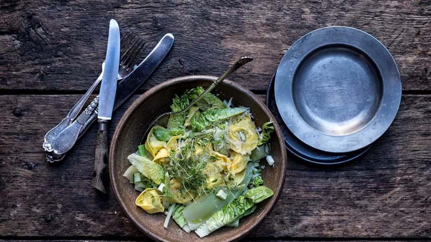 Tortellini med fennikel og squash